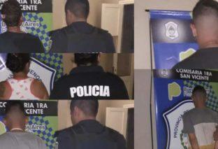 SAN VICENTE: 5 DETENIDOS Y 3 POLICÍAS RESULTARON HERIDOS EN UNA BATALLA CAMPAL