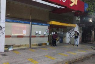 EL MUNICIPIO PINTA INGRESOS EN CAJEROS PARA MANTENER DISTANCIA ENTRE USUARIOS