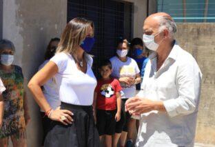 LANÚS: GRINDETTI Y GALMARINI HABILITARON OBRAS CLOACALES EN GONNET