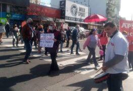 AGRUPACIONES REALIZARON UNA PROTESTA PARA PEDIR MEJORAS SANITARIAS EN LOMAS